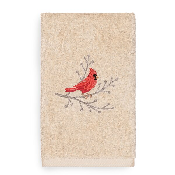 Beam Cardinal Embroidered Luxury 100% Turkish Cotton Hand Towel by The Holiday Aisle